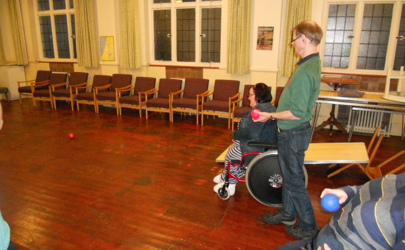 Boccia – with our new Boccia set