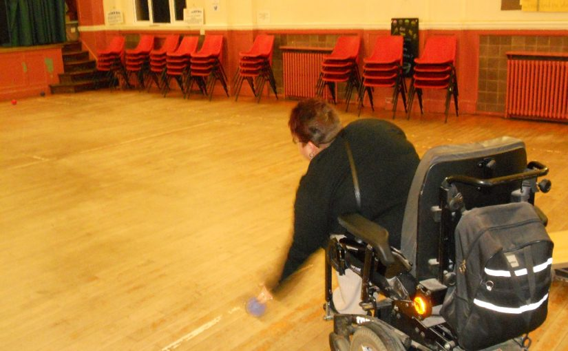 Last Boccia in the Hall before Open Doors work starts on the room