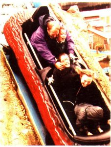 The flume at Drayton Manor