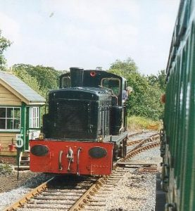 At Wootton Class 03 No D2059 runs around the train for the journey back to Smallbrook Junction.