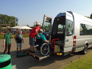 Loading the Oxford Phab Minibus