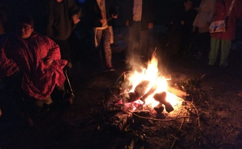 Evening meal and Campfire at Avon Tyrrell